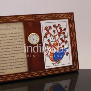 Table-Top-Products,-CL–Gond-Photoframe-&-Clock-Handicraft,-1046-copy