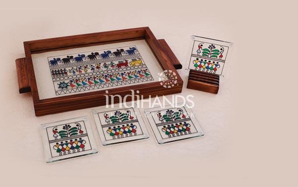 Table-Top,-T–Saura-Tray-Handicraft,-1004,-C–Saura-Coasters-Handicraft,-1009-copy